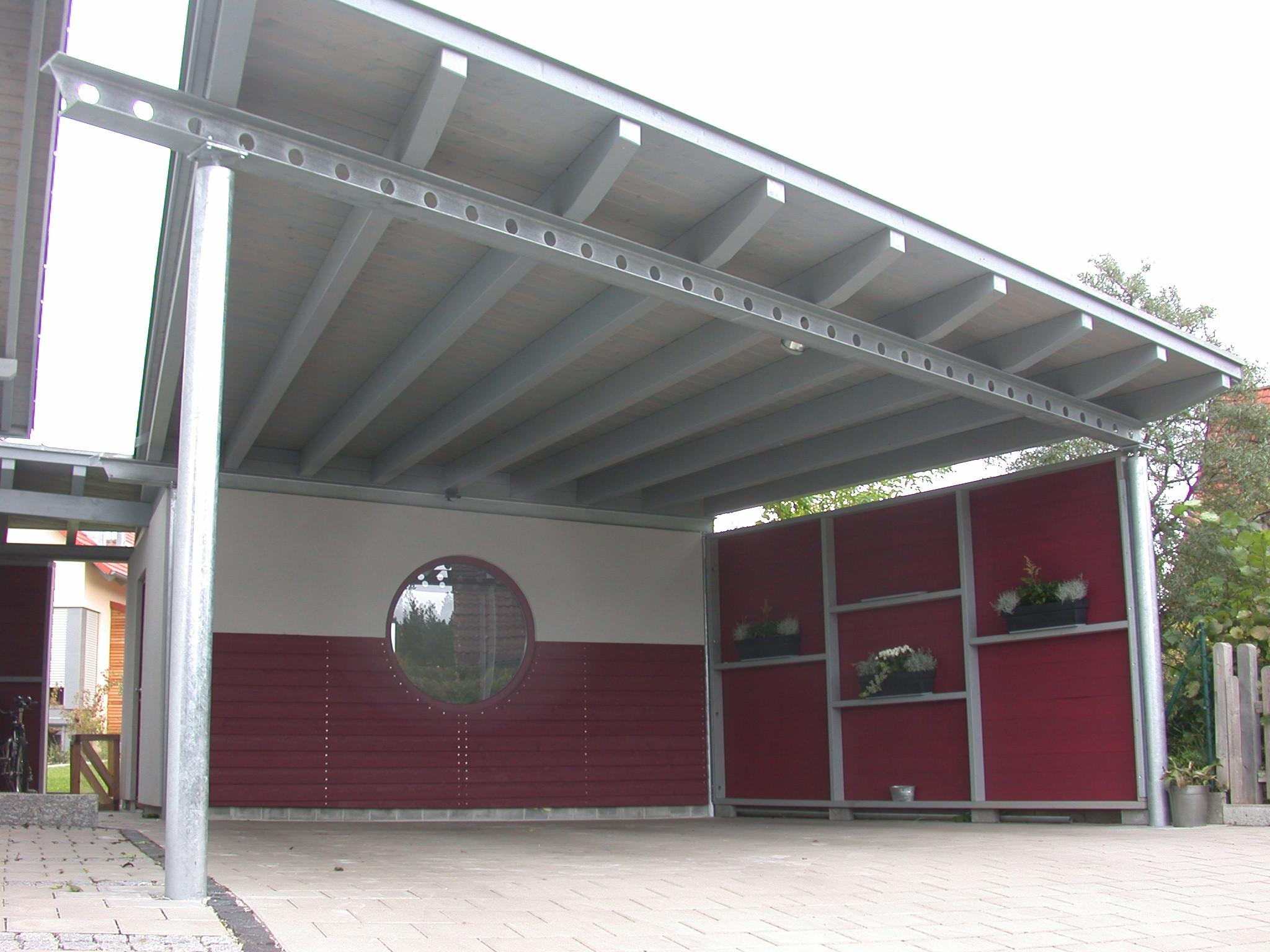 Galerie carport for Dachkonstruktion carport